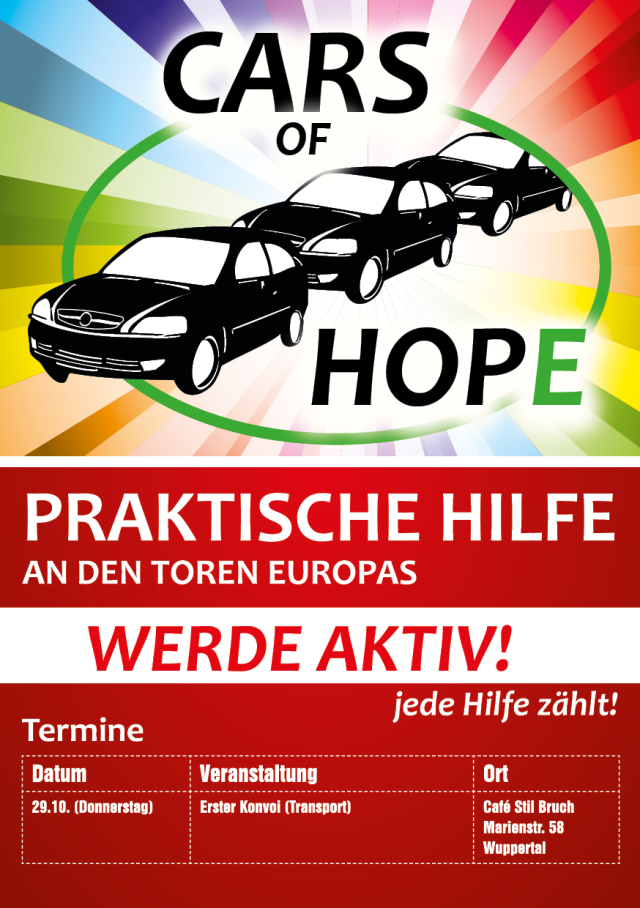Cars Of Hope Flyer - Version ohne alte Termine